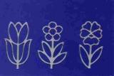 Sticker - Blumen - silber - 1133