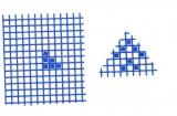 Mosaik-Sticker - Ganze Platte - 1038 - blau