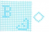 Mosaik-Sticker - Ganze Platte - 1038 - hellblau