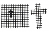 Mosaik-Sticker - Ganze Platte - 1038 - schwarz