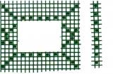 Mosaik-Sticker - Ganze Platte - 1038 - dunkelgrün