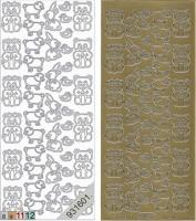 Sticker - Plüschtiere - gold - 115