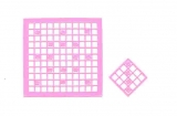 Mosaik-Sticker - Quadrate - 1078 - rosa