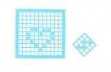 Mosaik-Sticker - Quadrate - 1078 - hellblau