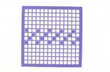 Mosaik-Sticker - Quadrate & Rand - 1081 - violett