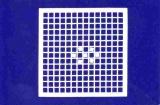 Mosaik-Sticker - Quadrate & Rand - 1081 - weiß