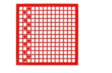 Mosaik-Sticker - Quadrate & Rand - 1081 - rot