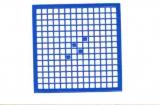 Mosaik-Sticker - Quadrate & Rand - 1081 - blau