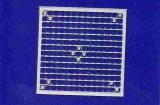 Mosaik-Sticker - Quadrate & Rand - 1081 - silber