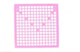 Mosaik-Sticker - Quadrate & Rand - 1081 - rosa