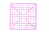Mosaik-Sticker - Quadrate & Rand - 1081 - flieder