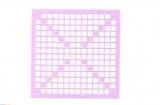 Mosaik-Sticker - Quadrate & Rand - 1081 - flieder