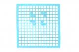 Mosaik-Sticker - Quadrate & Rand - 1081 - hellblau