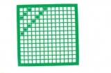 Mosaik-Sticker - Quadrate & Rand - 1081 - grün