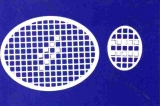 Mosaik-Sticker - Ovale (Eier) - 1080 - weiß
