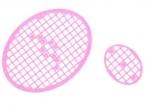 Mosaik-Sticker - Ovale (Eier) - 1080 - rosa