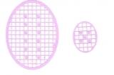 Mosaik-Sticker - Ovale (Eier) - 1080 - flieder