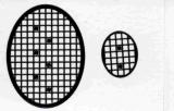 Mosaik-Sticker - Ovale (Eier) - 1080 - schwarz
