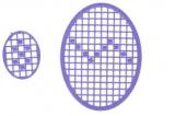 Mosaik-Sticker - Ovale (Eier) - 1080 - violett