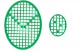 Mosaik-Sticker - Ovale (Eier) - 1080 - grün