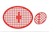 Mosaik-Sticker - Ovale (Eier) - 1080 - rot