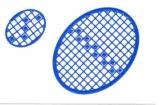 Mosaik-Sticker - Ovale (Eier) - 1080 - blau