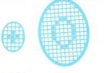 Mosaik-Sticker - Ovale (Eier) - 1080 - hellblau