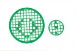 Mosaik-Sticker - Kreise - 1079 - grün