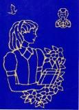 Sticker - Motive Mädchen 1 - gold - 888