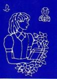 Sticker - Kommunion Mädchen - silber - 888