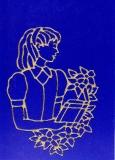 Sticker - Konfirmation / Kommunion Mädchen - gold - 889