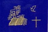 Sticker - Bibel und Kreuz - gold - 895