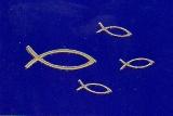 Sticker - Fisch - gold - 897