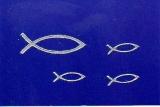 Sticker - Fisch - silber - 897