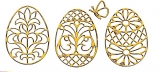 Sticker - Ostern 3 - gelb-gold - 898