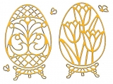 Sticker - Ostern 4 - gelb-gold - 899