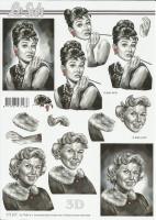 3D-Bogen Audrey Hepburn & Doris Day von LeSuh (777.017)