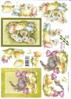 3D-Bogen Osterhase und Ostereier von LeSuh (8215130)