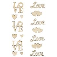 Holz-Schriftzüge Love - 16 Teile