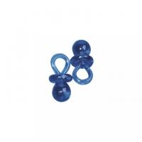 10x Kunstoffanhänger Schnuller blau - 3 cm