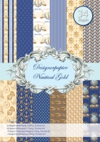 Designer-Paper Nautical Gold (84805)