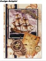 Designer-Paper Nautical Gold (84805)