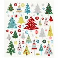 Creativ-Sticker Weihnachtsbäume (Auslaufartikel)