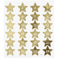 Creativ-Sticker Adventskalender-Zahlen, gold