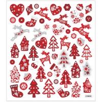 Creativ-Sticker Weihnachten rot-weiß (Auslaufartikel)