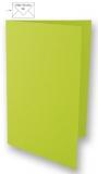 5x Doppelkarten A6 lindgrün (Rayher)