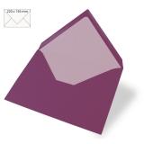 5x Umschläge C6 purpur velvet (Rayher)