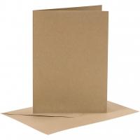 Doppelkarten-Set - natur - 6 Karten A6 & 6 Umschläge C6 (Card Making)