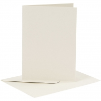 Doppelkarten-Set - elfenbein - 6 Karten A6 & 6 Umschläge C6 (Card Making)