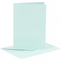Doppelkarten-Set - hellblau - 6 Karten A6 & 6 Umschläge C6 (Card Making)